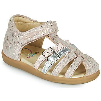 Sapatos Rapariga Sandálias Shoo Pom PIKA SPART Bege / Prata