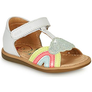 Sapatos Rapariga Sandálias Shoo Pom TITY RAINBOW Branco