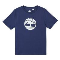 Textil Rapaz T-Shirt mangas curtas Timberland TRISTA Azul