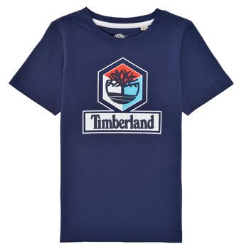 Textil Rapaz T-Shirt mangas curtas Timberland GRISS Marinho