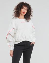 Textil Mulher Sweats Converse BLOCKED ALTERRAIN CREW Branco
