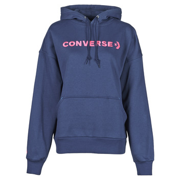 Textil Mulher Sweats Converse EMBROIDERED WORDMARK HOODIE Azul