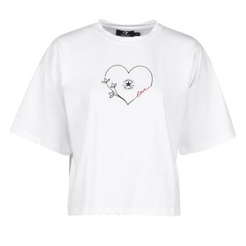 Textil Mulher T-Shirt mangas curtas Converse CHUCK WOMENS LOVE BOXY TEE Branco
