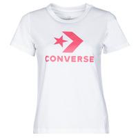 Textil Mulher T-Shirt mangas curtas Converse STAR CHEVRON CENTER FRONT TEE Branco