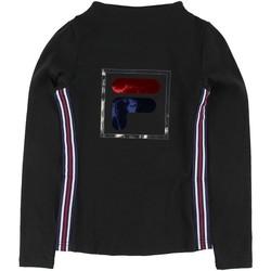 Textil Rapariga T-shirt mangas compridas Fila - T-shirt nero 688111-002 NERO
