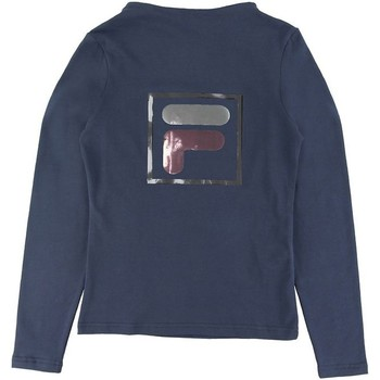 Textil Rapariga T-shirt mangas compridas Fila - T-shirt blu 688102-170 BLU