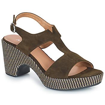Sapatos Mulher Sandálias Adige ROMA V5 VELOURS MILITAR Cáqui