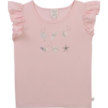 Textil Rapariga T-Shirt mangas curtas Carrément Beau Y15378-44L Rosa