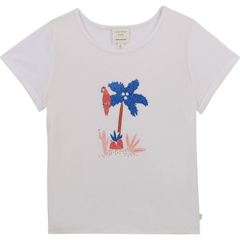 Textil Rapariga T-Shirt mangas curtas Carrément Beau Y15383-10B Branco