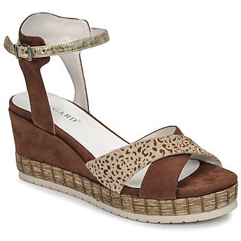 Sapatos Mulher Sandálias Regard DOUAI Castanho