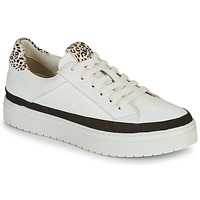 Sapatos Mulher Sapatilhas Regard HENIN Branco / Preto