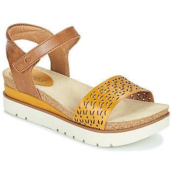 Sapatos Mulher Sandálias Josef Seibel CLEA 09 Castanho / Amarelo