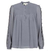 Textil Mulher Tops / Blusas MICHAEL Michael Kors MINI FLORAL LS TOP Marinho