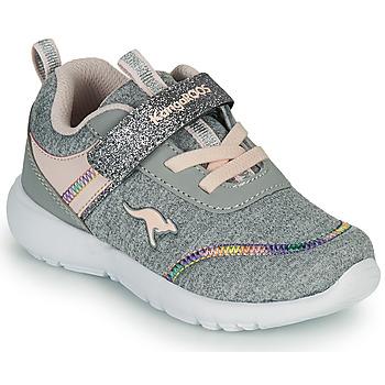 Sapatos Rapariga Sapatilhas Kangaroos KY-CHUMMY EV Cinza / Rosa