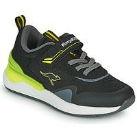 Sapatos Rapaz Sapatilhas Kangaroos KD-GYM EV Preto / Amarelo