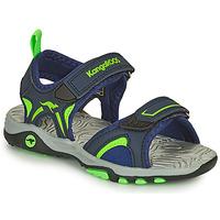 Sapatos Rapaz Sandálias Kangaroos K-MONT Azul / Verde