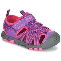 Sapatos Rapariga Sandálias Kangaroos K-ROAM Rosa / Cinza