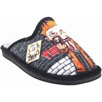 Sapatos Rapaz Chinelos Gema Garcia Vá para casa garoto  2301-6 preto Noir