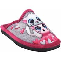 Sapatos Rapariga Chinelos Gema Garcia Vá para casa garota  2300-1 fuxia Gris