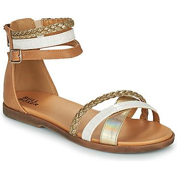 Sapatos Rapariga Sandálias Bullboxer ALM013F1S-GOLD Castanho
