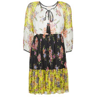 Textil Mulher Vestidos curtos Derhy SARDAIGNE Preto / Branco / Amarelo