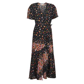 Textil Mulher Vestidos compridos Derhy SUEDE Preto / Multicolor