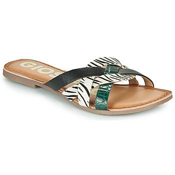 Sapatos Mulher Chinelos Gioseppo STILES Preto / Branco