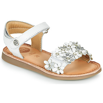 Sapatos Rapariga Sandálias Gioseppo MAZARA Branco / Prata