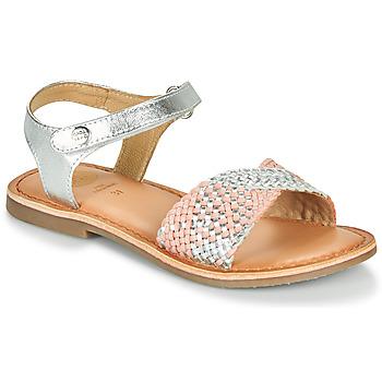 Sapatos Rapariga Sandálias Gioseppo QUINCY Prata / Rosa