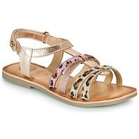Sapatos Rapariga Sandálias Gioseppo PALMYRA Rosa / Ouro