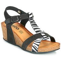 Sapatos Mulher Sandálias IgI&CO JOULIA Preto / Branco