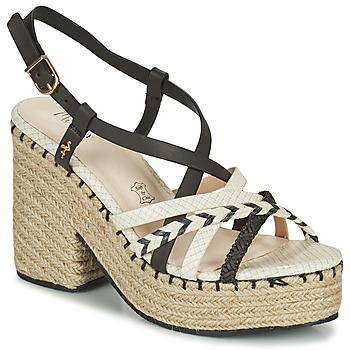 Sapatos Mulher Sandálias Menbur BALMUCCIA Preto / Branco