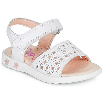 Sapatos Rapariga Sandálias Pablosky DROSSI Branco / Rosa