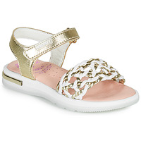 Sapatos Rapariga Sandálias Pablosky DANIE Ouro / Branco