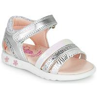 Sapatos Rapariga Sandálias Pablosky ELLO Prata