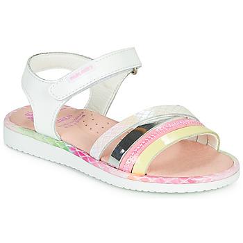 Sapatos Rapariga Sandálias Pablosky MOUNNA Branco / Rosa