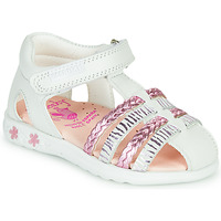 Sapatos Rapariga Sandálias Pablosky ELLA Branco / Rosa