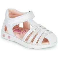 Sapatos Rapariga Sandálias Pablosky TONNI Branco / Rosa