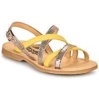 Sapatos Rapariga Sandálias Citrouille et Compagnie GENTOU Amarelo / Prata
