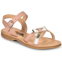 Sapatos Rapariga Sandálias Citrouille et Compagnie JISCOTTE Rosa / Prateado