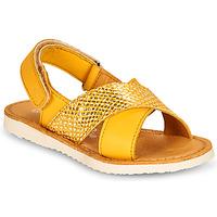 Sapatos Rapariga Sandálias Citrouille et Compagnie OVETTE Amarelo