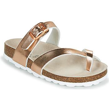 Sapatos Rapariga Chinelos Citrouille et Compagnie OMILA Rosa / Ouro