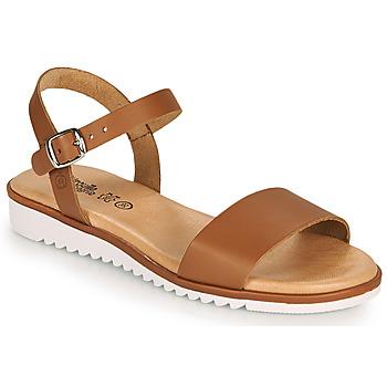 Sapatos Rapariga Sandálias Citrouille et Compagnie GLAPOTTI Camel