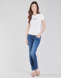 Textil Mulher Calças Jeans Pepe jeans GEN Azul