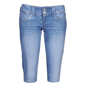 Textil Mulher Calças curtas Pepe jeans VENUS CROP Azul