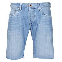 Textil Homem Shorts / Bermudas Pepe jeans STANLEU SHORT BRIT Azul / Claro