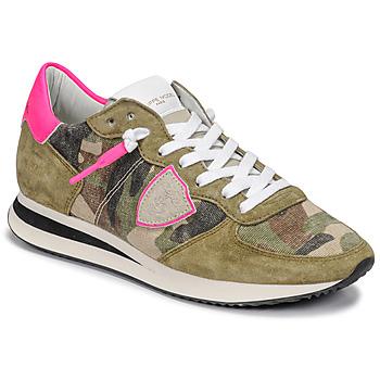 Sapatos Mulher Sapatilhas Philippe Model TROPEZ X Camuflagem