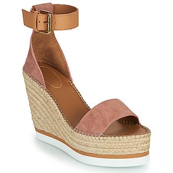 Sapatos Mulher Alpargatas See by Chloé GLYN Rosa / Cru