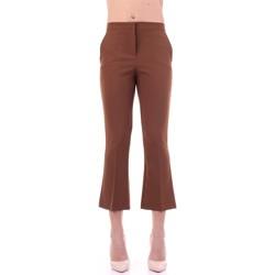 Textil Mulher Calças Angela Davis EG71 Castanho