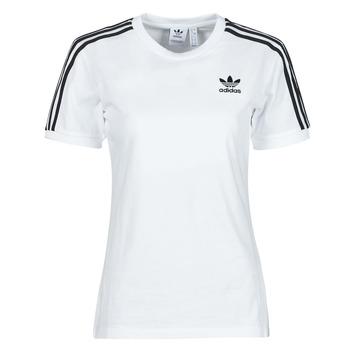 Textil Mulher T-Shirt mangas curtas adidas Originals 3 STRIPES TEE Branco
